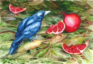 Sentinel III, 15x 22,  watercolor, ©2005 Helen R Klebesadel++Sentinel III, 15x 22,  watercolor, ©2005 Helen R Klebesadel