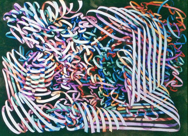 Helen R Klebesadel, Ribbons III, watercolor