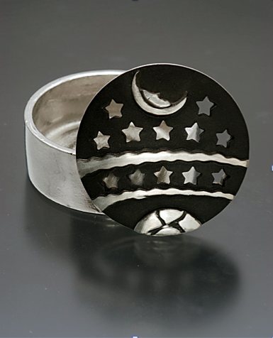 Night Sky Pewter Box