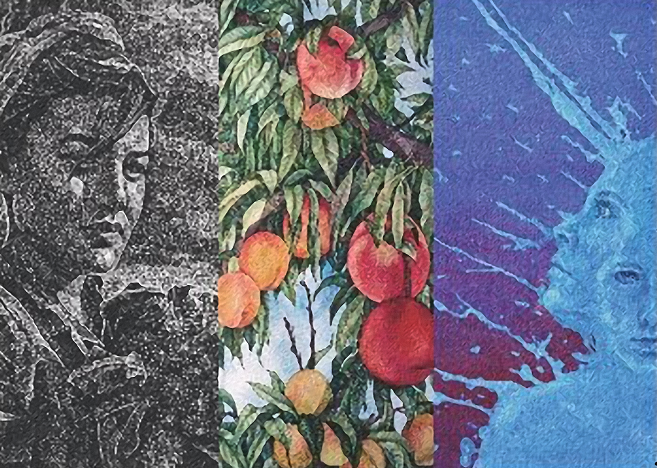 Exhibition Announcement for Recent Works by Kelty Carew, Helen Klebesadel, and Danny Torres
