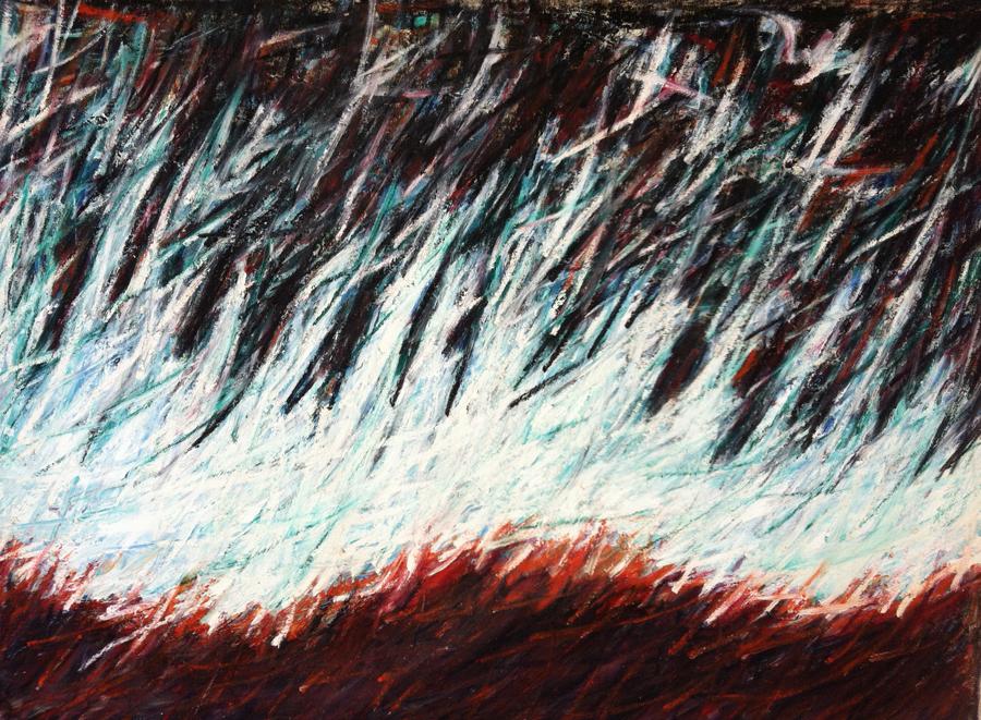 Primal Embers VIII, 1988, 48 x 60 Oil on Canvas
