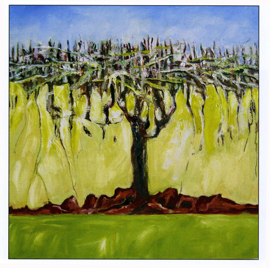 Weeping Trees III, 24x24, oil on canvas, Jean Towgood ,2011