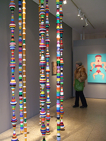 Mary Ellen Croteau, Endless Columns 2012-13 Size: variable (installed floor to ceiling) Value $1000 (for 3) www.maryellencroteau.net