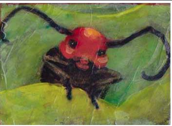 Got Milkweed?, acrylic, by Marilyn Knipfer, Deerfeild WI
