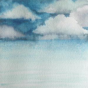 Lake Study III, watercolor, 5.5 x 5.5